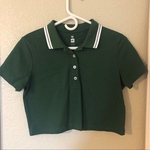 pacsun polo cropped shirt